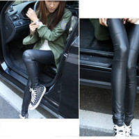 Foot Cover Women Leggings 2013 Sexy Ladies Faux Leather Black Leggings Fashion Pants Black Trousers NEW Free Shipping