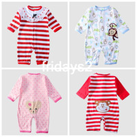 Wholesale 2014 new spring and summer long sleeved cotton baby clothes newborn clothes Romper climbing clothes years old children s products