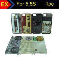 Plastic hard machine - 1PC Hot Selling Retro Cassette Tape Game Machine Gamepad Camera Calculator Radio Hard Plastic Cover Case for Iphone G S IP5