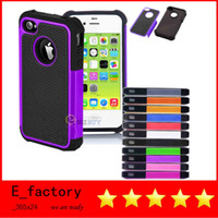 Wholesale Hybrid Rugged Impact Rubber Matte Robot Silicone PC Hard Case Protection Cover for iPhone s C C S S3 S4 S5 MINI ipod touch
