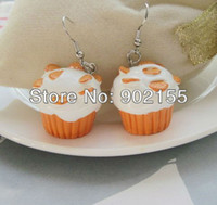 Cheap Costume jewelry high quality cheap Cupcake earrings