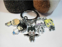Wholesale Japanese Anime Death Note Metal Toys Figure Keychain Key Ring For Christmas gifts