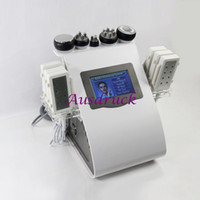 Wholesale New Diode nm Lipo Laser Tripolar RF Vacuum body face fat loss remove radio frequency Ultrasonic equipment Cavitation beauty Machine