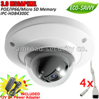 4pcs Dahua 3Mp HD Outdoor Waterproof Vandalproof ONVIF 3DNR ...