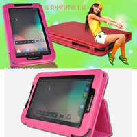 Wholesale folding PU leather case for inch Lenovo A5000 Tablet folio PU leather case