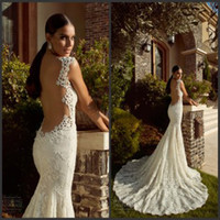 sexy lace wedding dress - Galia Lahav Sweetheart Backless Bridal Gown Appliques Chapel Train Summer Garden Beach Church Sexy Lace Mermaid Wedding Dresses Cheap