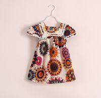 2014 Summer Soft Cloth Children Clothing Baby Dress Flower P...