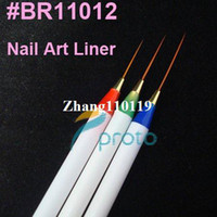 Nail File Metal Dotting Tool Freeshipping-20sets lot 3 x Nail Art Acrylic Brush Pen Paint Liner Drawing Tips SKU:G0057X