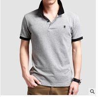 Men Cotton Polo Free shipping! HOT Detonation Model Men's New Collar Short Sleeve Cotton POLO .WDW02
