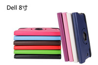 Wholesale 360 Rotating PU stand Leather Case Cover For Dell Venue inch