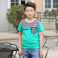 Boy Summer Standard 2014 Summer Children Clothing Boys Clothes t-shirt Outfit Brand Shorts Sleeved Cool Style Pure Cotton Patchwork Baby boy shirt Drop shipping
