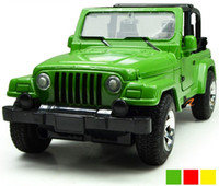 Wholesale Cabiro Jeep Wrangler Alloy Diecast Model Car Jeep With Sound and Light Pull Back Toy Collection Gift
