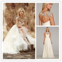 Other Reference Images Sweetheart Sexy Hayley Paige A Line Sweetheart Beaded Grecian Wedding Dresses 2014 Draped Ruffle Bolero Vestido Novia