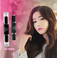 Wholesale ce Double Slider Lipstick Pearlizing Dull Combination Lipstick Rose Moisturizer Colors Women s Lipstick