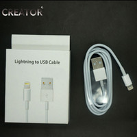 Wholesale 8 pin Data Sync Adapter Charger USB cable for iphone s C for ios with package retail box