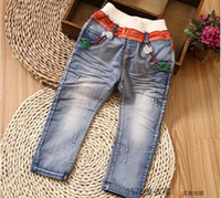 Unisex jeans lot - 2014 Spring new style Trousers Children Jeans Boys Girls wash Denim Pants Kids Casual Pants size TX229