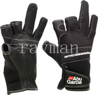 Wholesale 10 pieces Abu Garcia Fishing Gloves Anti Water Proof Fishing Stretch Gloves XL