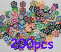 Wholesale 200X D Flower Nail Art Fimo Slices Scrapbooking Slices
