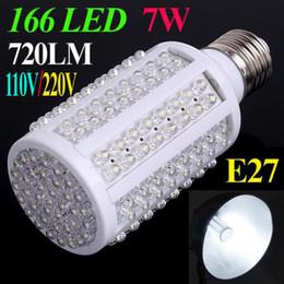 Wholesale High quality LEDs LED Corn Bulb E27 LM V OR V W LED Lamp Bright White light Spotlight Degree LED Lighting
