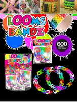 Wholesale Rainbow Loom Charma kit Magical Colorful Loom Kit DIY Toys Educational toys Set Mix Colour bands S C Clips crochet hook