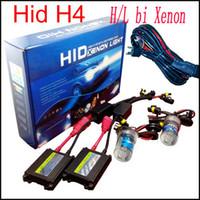achat en gros de 55w voiture xénon caché h4-55W H4 bi xénon h4-3 H / L H16 Kit de voiture 12v Kit haut et bas bi-xénon HID Beam Slim Ballast