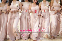 2014 pink Bridesmaid Dresses Sleeveless Pleated A- Line Chiff...
