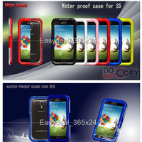 Wholesale Waterproof for Samsung I9600 Colors Dirt Snow Shock Proof for Samsung Galaxy S5 Case Cases for Cell phones