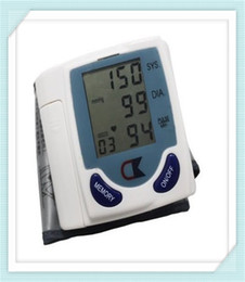 Wholesale 2016 Hot Sell New Automatic Digital Wrist Blood Pressure Monitor Heart Beat Meter Sphygmomanometer Prevent Hypertension