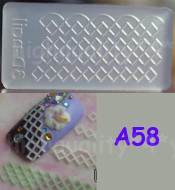 Acrylic mold for 3d nail art decoration diy a58 nail for 3d acrylic nail art mold diy decoration