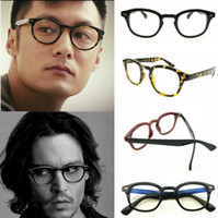 Wholesale Drop Shipping Women Men Brand Designer Eyeglasses Frames Johnny Depp Same Style Small Vintage Rivet Glasses Frames WY109