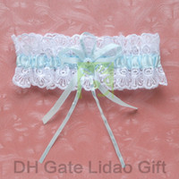 Wholesale Lace Wedding Bridal Garter with Pale Blue Ribbons for Special Wedding Party Stuff Accessory Supplies New Arrival