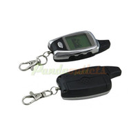 Wholesale car C09 Two Way Auto Security Motorcycle Alarm System w quot LCD Remote Controller Black