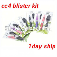Multi Electronic Cigarette Set Series CE4 eGo Blister Pack Set CE4 Atomizer 1.6ml 2.4ohm CE4 1100mah Electronic Cigarette colorful battery ego kit dhl