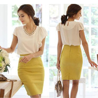 Wholesale 2015 Summer Skirts Korean Fashion Party Skirts High cut Tight Women Skirt Bodycon OL Over HIP High Waist Pencil Skirt Plus Size BQ2