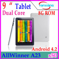 Wholesale DHL Newest price inch Allwinner A23 Dual core Cortex A8 android tablet RW L09