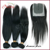 Wholesale A6 Cheap quot quot Cambodian Virgin Hair Straight Lace Closure Cambodian Hair pc Lace Closure Indian Ponytail Hair Extensions
