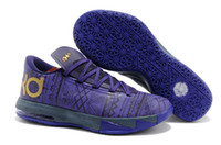 Wholesale Fast shipping New Release Brand Mens KD VI Basketball Shoes BHM black history month Purple Venom Metallic Gold Purple Dynasty