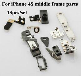 13PCS / SET para las piezas medias del marco del iPhone 4S fijó las pequeñas piezas llenas de la placa media fijadas desde iphone 4s conjunto completo proveedores