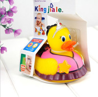 Wholesale Temperature Sensing Discoloration Spraying Toy Bathe Water Duck Toys For years Old Kids amp Babies