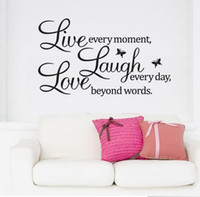 Murals art deco decals - Fashion Hot DIY Live Laugh Love Removable Vinyl Wall Sticker Decal Wallpaper Art Home Deco