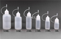 Wholesale 50ml E liquid Bottle Plastic Needle Bottle with Needle Tip Childproof Tip Suit for e juice Colorful Lids Avaiable DHL Free Shipp flying2013