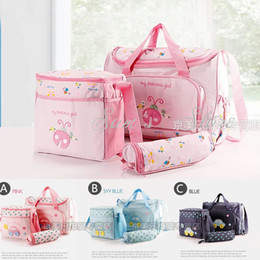 Wholesale Fashion Succinct Diaper Bags Designer Baby Mother Products Nappy Bag a set Maternity bag baby Multicolor