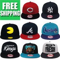 Wholesale new baseball gorra brand snapback hats tapa brim straight hiphop sports bone adjust size caps pular de volta gorras trucker