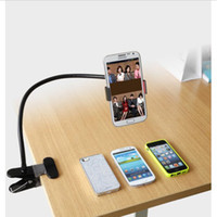 car phone holder   Universal Lazy Bed Desktop Car Mount Kit Holder for Cell Phone iPhone 5 5s 5c Galaxy s3 s4 s5 note 3 Flexible Long Arms 360 Rotation retail