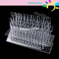 UV Gel Nail Art Set Yes Set & Kit New 64 Tips Pop Sticks Nail Art Tips Nail Display Stand Nail Practice Training Tool Removable Rack + Display Plate 5787