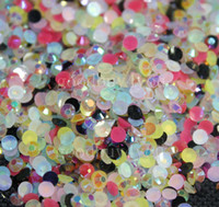 Wholesale 5000pcs Mixed colored Resin Jelly Rhinestone Gems Flatback Round mm Colors
