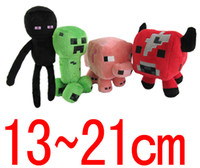 Wholesale Retail Minecraft JJ Enderman cow pink pig Cute plush toy stuffed doll cm