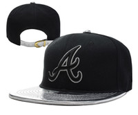 Wholesale Baseball Snapbacks Braves Hats Cool Hats Summer Caps Black Caps Adjustable Strap Back Hat Unisex Cap for Men and Women Cheap Sports Cap