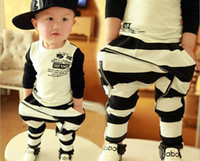 Wholesale Brand New Fashion Baby Pants Cotton Stripe Zipper Kid s Boy Harem Pants Toddler Casual Trousers Year