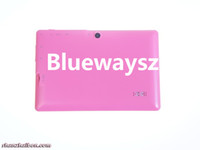 Under $50 7 inch Single Core Allwinner A13 Cheapest 4.2 A13 Q88 Tablet PC MID Gift givin512M 4G Dual Camera 3000MAH Big Battery Android 4.2 Jelly Bean Fashion Pink 20PCS